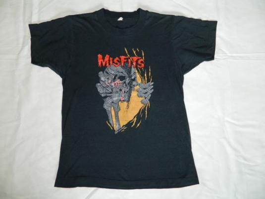 Vintage MISFITS ZED RECORDS 80s T-Shirt Pushead Evil Eye