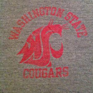 Vintage WASHINGTON STATE UNNIVERSITY C0UGARS 80s T-Shirt wsu