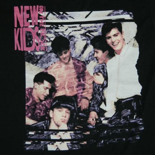 vintage NEW KIDS ON THE BLOCK 1990 TOUR T-Shirt nkotb nos