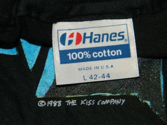 vintage KISS 1988 CRAZY NIGHTS TOUR T-Shirt Dead Stock 80s