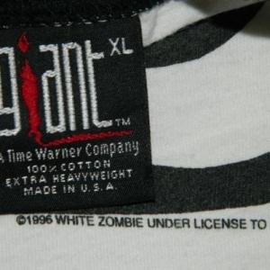 Vintage WHITE ZOMBIE 666 JERSEY 90S T-Shirt tour concert