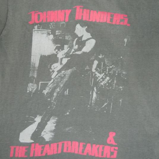 Vintage JOHNNY THUNDERS 1984 TOUR T-Shirt 80s concert