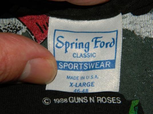 Vintage GUNS N ROSES 1988 APPETITE FOR DESTRUCTION T-Shirt