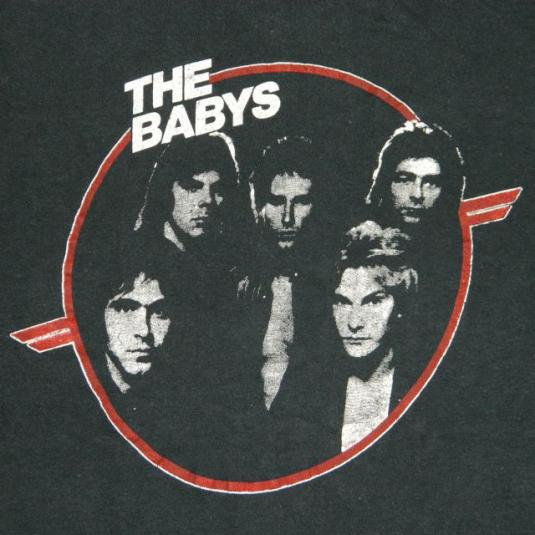 Vintage THE BABYS 1980 UNION JACKS Promo T-Shirt