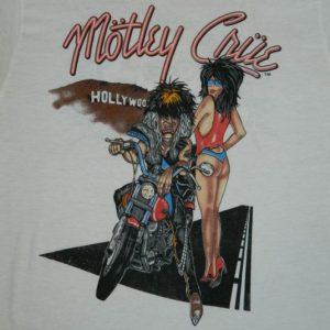 UBER RARE! MOTLEY CRUE vintage 1987 t-shirt 80s tour concert