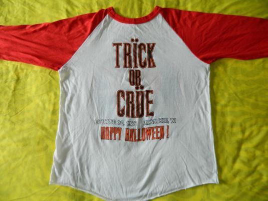Vintage MOTLEY CRUE HALLOWEEN 1985 CONCERT JERSEY T-Shirt