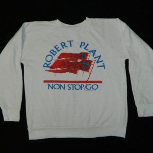 Vintage ROBERT PLANT 1988 NOW AND ZEN SWEATSHIRT t-shirt 80s