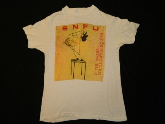 Vintage SNFU 1986 If You Swear… Tour T-shirt Original