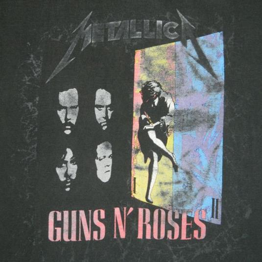 Vintage Metallica n Guns N Roses 1992 Tour T-shirt