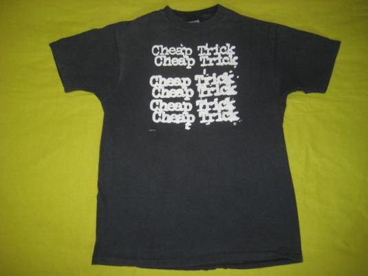vintage CHEAP TRICK 1989 LAP OF LUXURY TOUR T-Shirt 80s