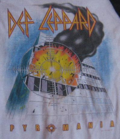 "DEF LEPPARD ""Pyromania Tour 1983"" t-shirt"