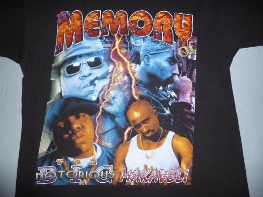 1990s Biggie Smalls & Tupac Tribute T-Shirt 90s Hip Hop