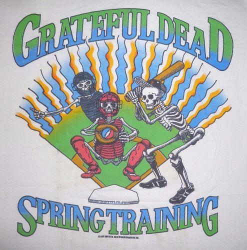 Vintage 1988 Grateful Dead Spring Training Tour T-Shirt 80s