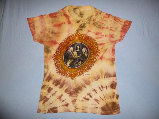 """1970s Allman Brothers Band """"Idelwild South"""" Tie Dye T-Shirt"""