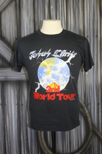 Vintage 80s Jesus Christ 2nd World Tour Black T Shirt