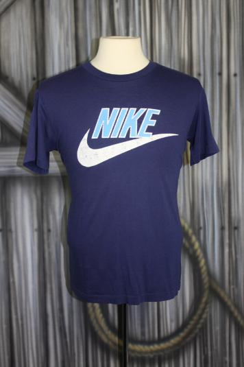 Vintage 80s Nike Swoosh Logo Two Tone T Shirt