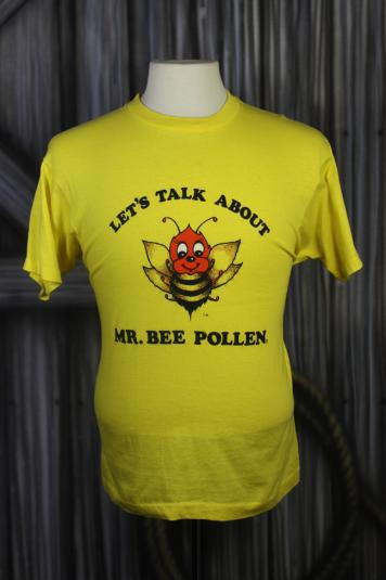 Vintage 80s Birds and Bees Sex Talk Yellow Funny T Shirt