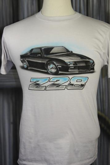 Vintage 80s Chevy Camaro Z28 Retro Race Car T Shirt
