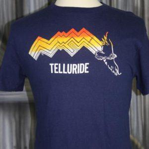 Vintage 1980s Telluride Colorado Mountain Eagle Ski T Shirt