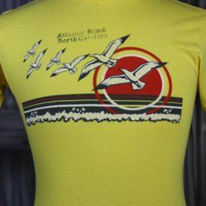 Vintage 80s Atlantic Beach North Carolina Sunset T Shirt