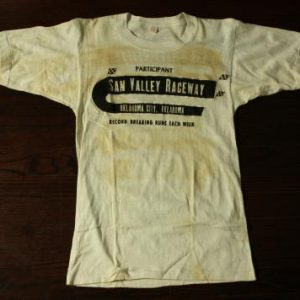 Vintage 50s San Valley Raceway Participant Hot Rod T Shirt