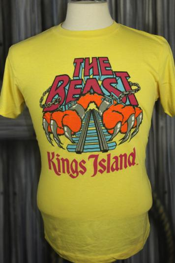 Vintage 80s The Beast Kings Island Roller Coaster T Shirt