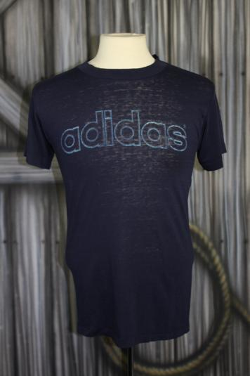 Vintage 80s Adidas Trefoil Burnout T Shirt