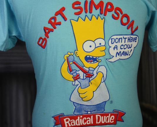 Vintage 80s Bart Simpson Radical Dude T Shirt