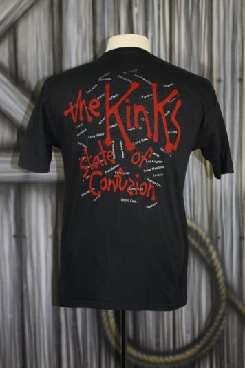 Vintage 80s The Kinks USA 1983 Dance Concert Tour T Shirt