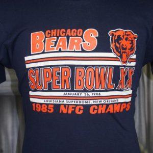 Vintage 80s Chicago Bears Super Bowl Champions T Shirt