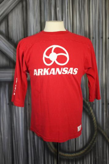 Vintage 70s Arkansas Nautilus Raglan Champion T Shirt