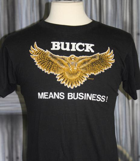 Vintage 80s Buick Cars Means Business Eagle T Shirt