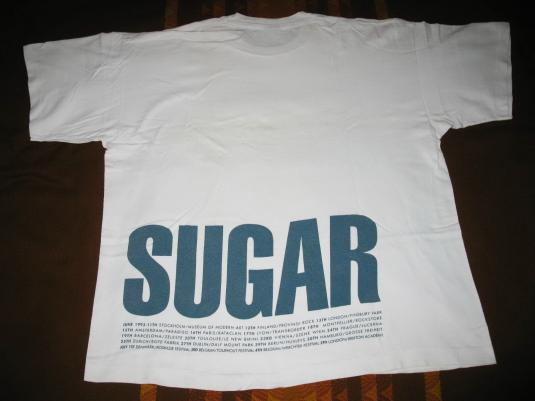 1993 SUGAR BEASTER TOUR VINTAGE T-SHIRT HUSKER DU