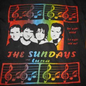 1993 THE SUNDAYS & LUNA TOUR VINTAGE T-SHIRT SHOEGAZE