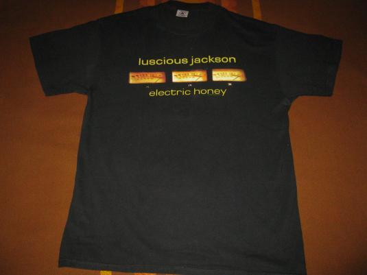 90s LUSCIOUS JACKSON ELECTRIC HONEY VINTAGE T-SHIRT