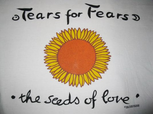 1990 TEARS FOR FEARS SEEDS OF LOVE VINTAGE T-SHIRT 90S