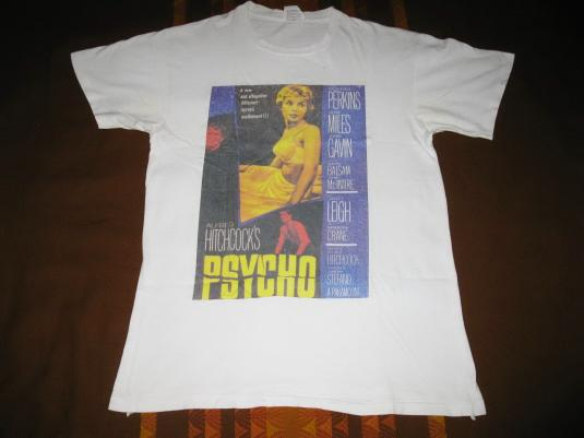 90s PSYCHO VINTAGE T-SHIRT ALFRED HITCHCOCK HORROR MOVIE