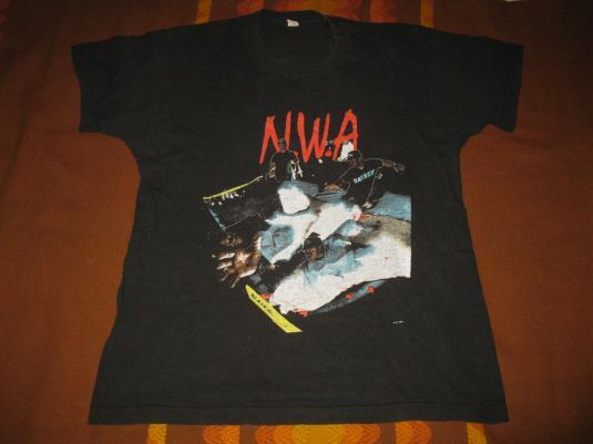 1991 N.W.A. NIGGAZ4LIFE VINTAGE T-SHIRT ICE CUBE EAZY-E XL