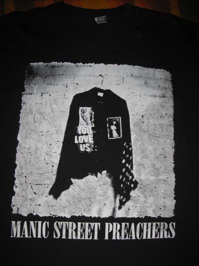 1991 MANIC STREET PREACHERS YOU LOVE US VINTAGE T-SHIRT