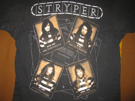 1990 STRYPER AGAINST THE LAW VINTAGE T-SHIRT