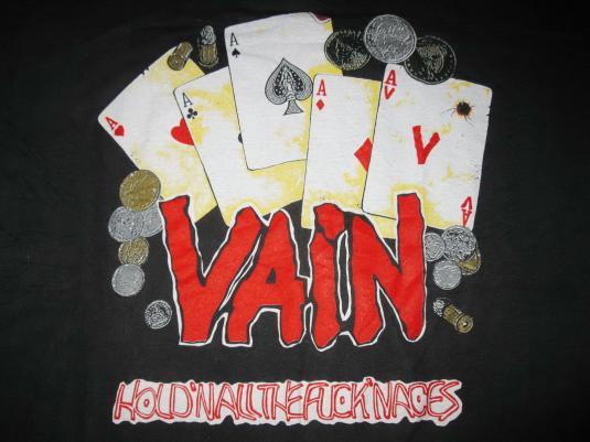 1989 VAIN NO RESPECT UK TOUR VINTAGE T-SHIRT GN'R LA GUNS