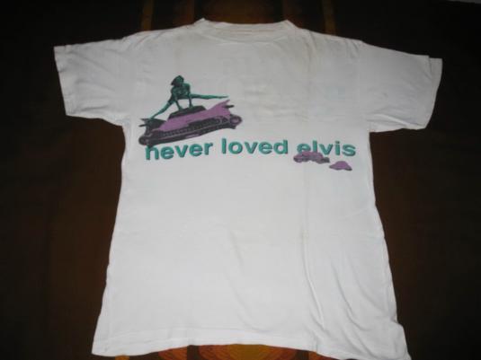 1991 THE WONDER STUFF NEVER LOVED ELVIS VINTAGE T-SHIRT
