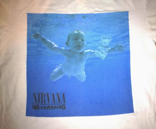 1992 NIRVANA NEVERMIND VINTAGE T-SHIRT KURT COBAIN