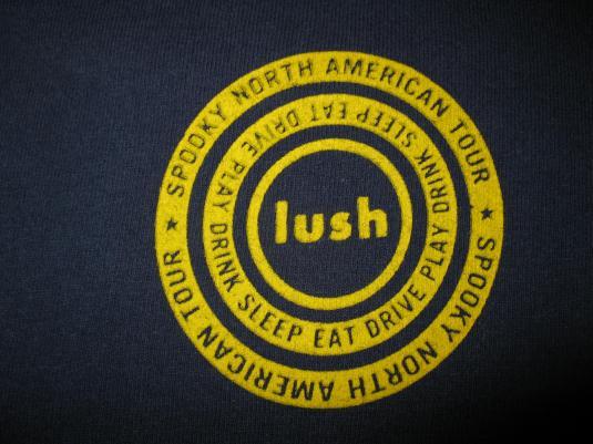 1992 LUSH NORTH AMERICAN TOUR VINTAGE T-SHIRT SHOEGAZE