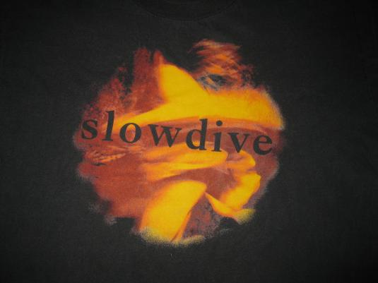 1991 SLOWDIVE JUST 4 A DAY VINTAGE LONG SLEEVE TEE SHOEGAZE