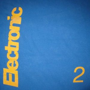 1991 ELECTRONIC GET THE MESSAGE VINTAGE T-SHIRT NEW ORDER