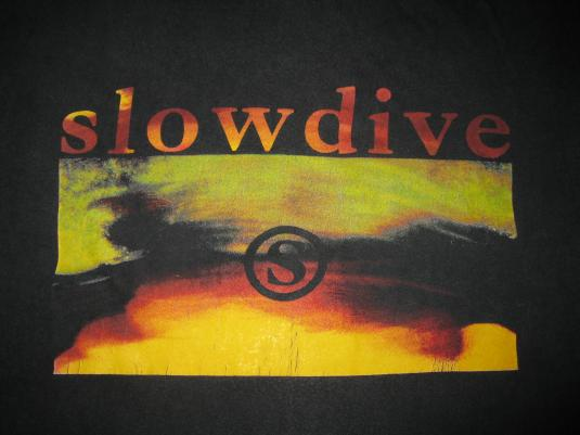 1991 SLOWDIVE JUST FOR A DAY VINTAGE T-SHIRT SHOEGAZE