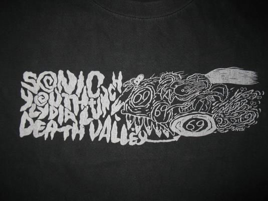 1991 SONIC YOUTH DEATH VALLEY 69 VINTAGE T-SHIRT LYDIA LUNCH