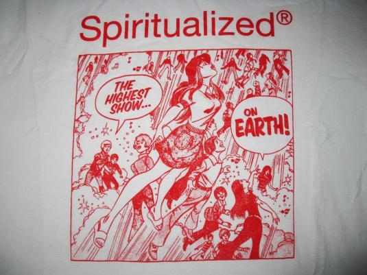 1997 SPIRITUALIZED THE HIGHEST SHOW VINTAGE T-SHIRT SHOEGAZE