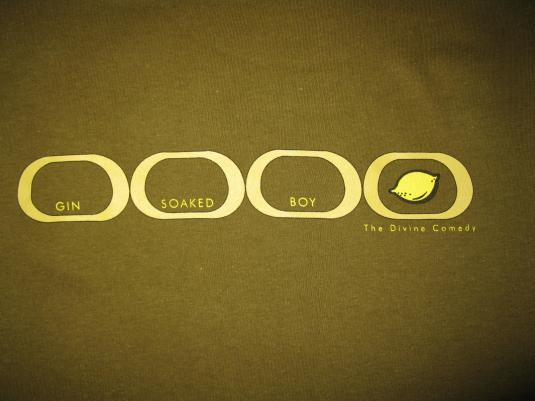 1999 THE DIVINE COMEDY GIN SOAKED BOY VINTAGE T-SHIRT